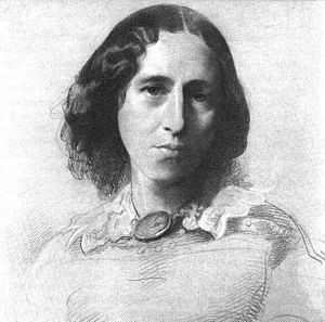George Eliot by Samuel Laurence via Wikipedia