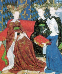 Christine Presenting Her Book to Queen Isabeau, WikiCommons Images