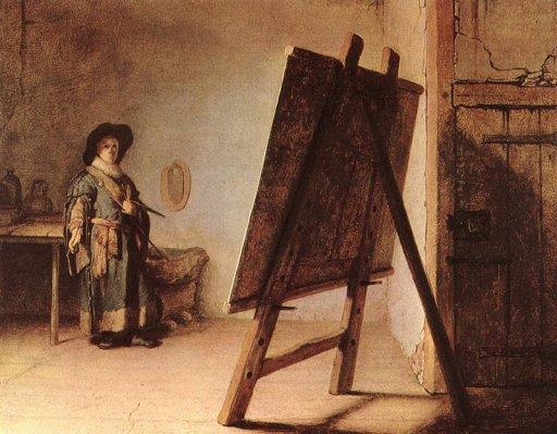 rembrandt-artist-in-his-studio