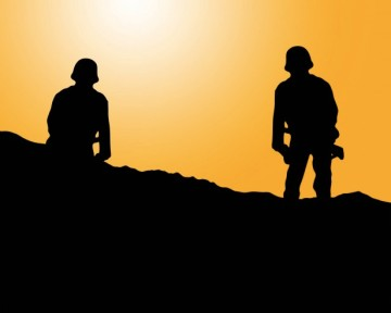 soldier-silhouette-at-sunset
