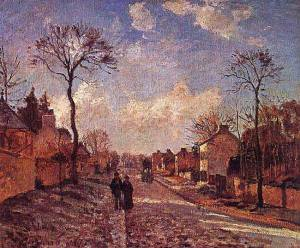 La route de Louveciennes,  oil on canvas by Camille Pissarro (1830-1903), French
