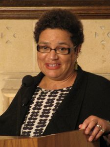 Jackie Kay (b. 1961), Scottish poet and novelist is the 2014 Second Light Network Long and Short poetry competion, photo by Slowking4 under CC A - Noncommercial Unported License