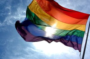 This flag celebrates LGBT pride. Photo courtesy of Ludovic Bertron under CC BY 2.0 license.