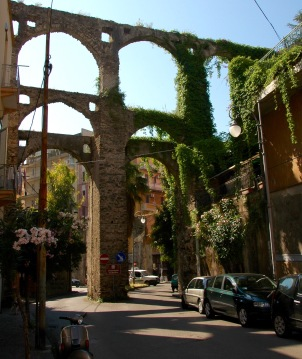 Aqueduct Salerno, Italy