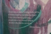 Alfonso Gatto Poem Detail from mural in Salerno