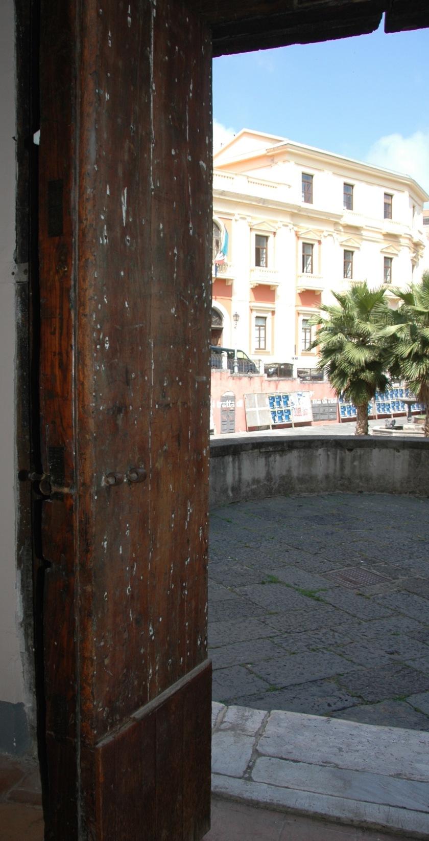 Looking out the door Santa Sofia Complex