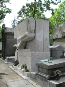 Tomb of Oscar Wilde designed by Sir Jacob Epstein