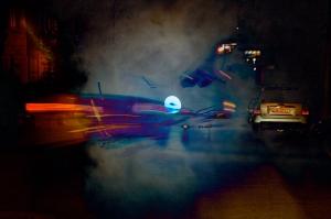 Night Cars Dissonance, digital art from photos