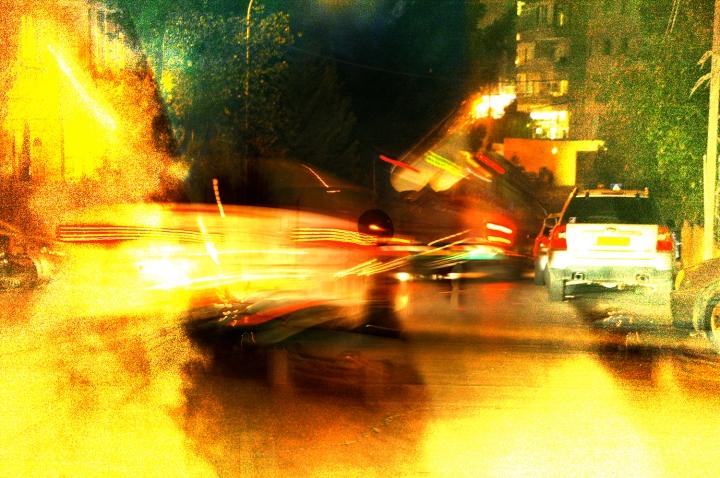 Night Cars Dissonance 2, digital art from photos