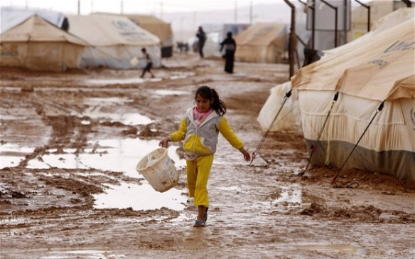 Syrian refugee camp, photo: The Telegraph