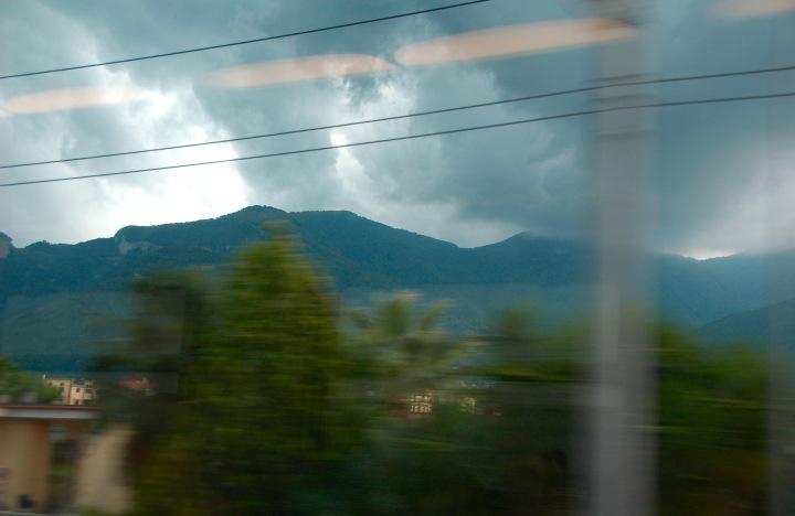 Mount Vesuvius from the train window ©2015 Michael Dickel
