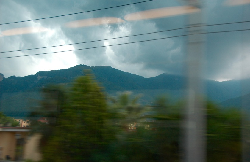 Mount Vesuvius from the train window ©2015 Michael Dickel