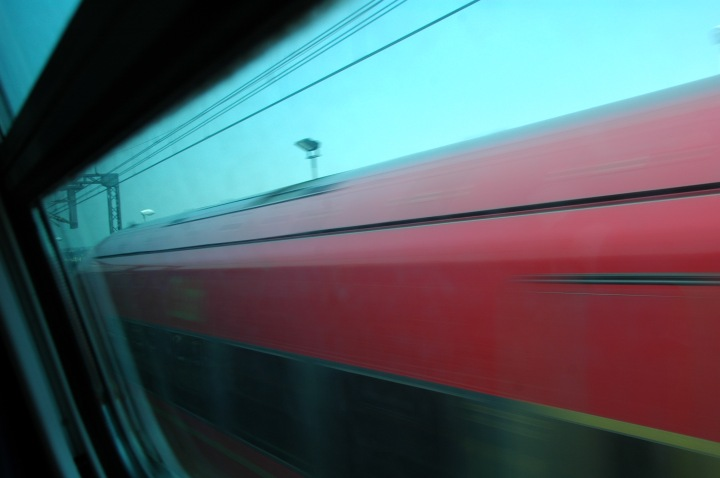 Train Passing abstract photo ©2015 Michael Dickel