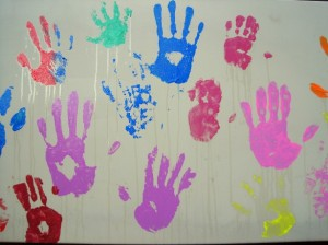 paint-prints-of-youths-hands