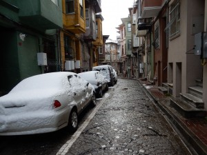 Snowy day in Fener