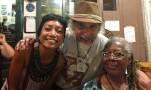 L to R: Malaysian Performance Poet Ilay Sumanto, Michael Castro, & Adelia Parker-Castro Salerno, Italy