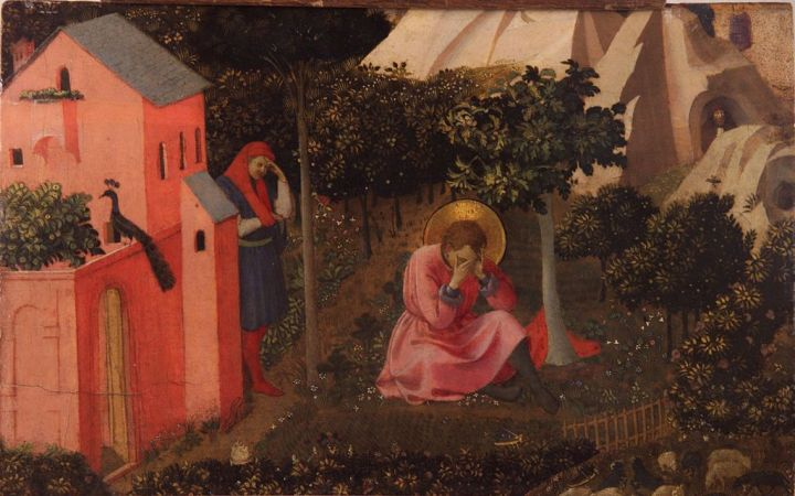 """""""The Conversion of St. Augustine"""" by Fra Angelico (born Guido di Pietro; c. 1395[2] – February 18, 1455)"""