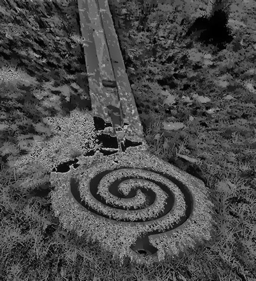 Labyrinth Digital landscape from photo @2018 Michael Dickel
